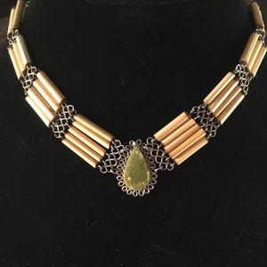 Jewelry - Wood and Natural Stone Choker
